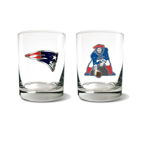 NFL New England Patriots Rocks Glass Set - 2pc - image 1 of 1