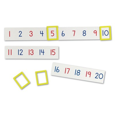 Learning Resources Magnetic Number Line 1-100, 20 Magnets, Sets of 5 Magnets, Ages 3+