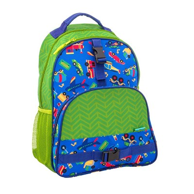 Stephen Joseph All Over Print Kids Backpack School Bag with Buckles, Adjustable Shoulder Straps, and 2 Mesh Pockets for Boys and Girls, Transportation