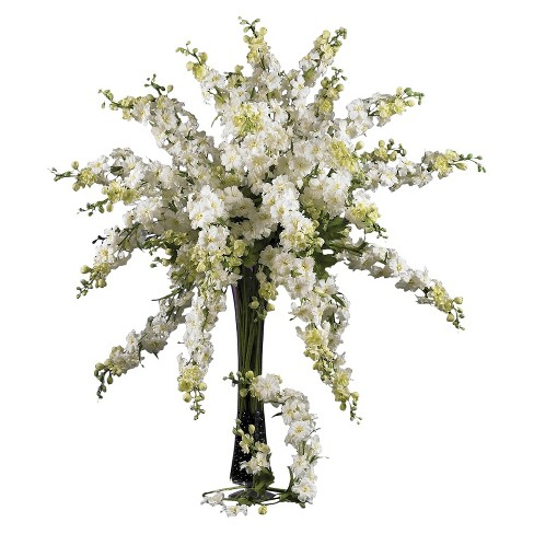 """Nearly Natural 38.5"""" Delphinium Stem (Set of 12) - image 1 of 2"""