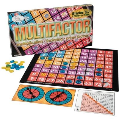 WCA Multifactor Math Game, 2 - 4 Player, Grade 3 - 7