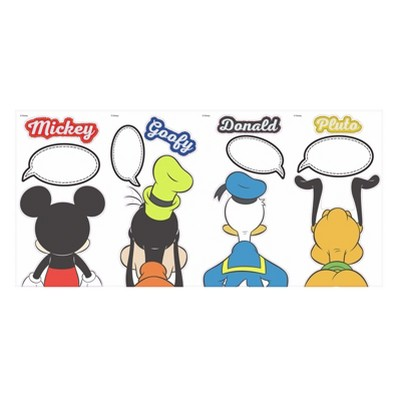 RoomMates Disney Mickey Mouse & Friends Peel and Stick Decal with Dry Erase 4 Sheets