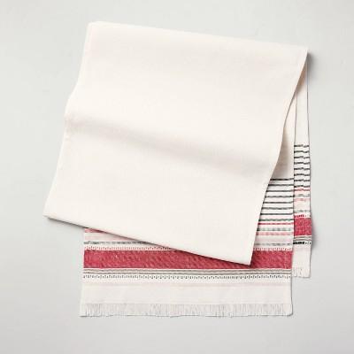 Decorative Multi Stripe Table Runner Red/Green - Hearth & Hand™ with Magnolia