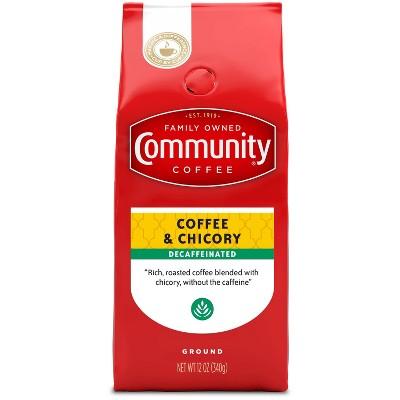 Community Coffee Decaf Coffee & Chicory Medium Roast Ground Coffee - 12oz