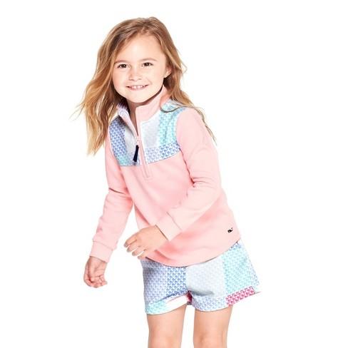 d7497f4bb Toddler Girls' 1/4 Zip Pullover Patchwork Whale Sweatshirt - Pink - Vineyard  Vines® For Target : Target