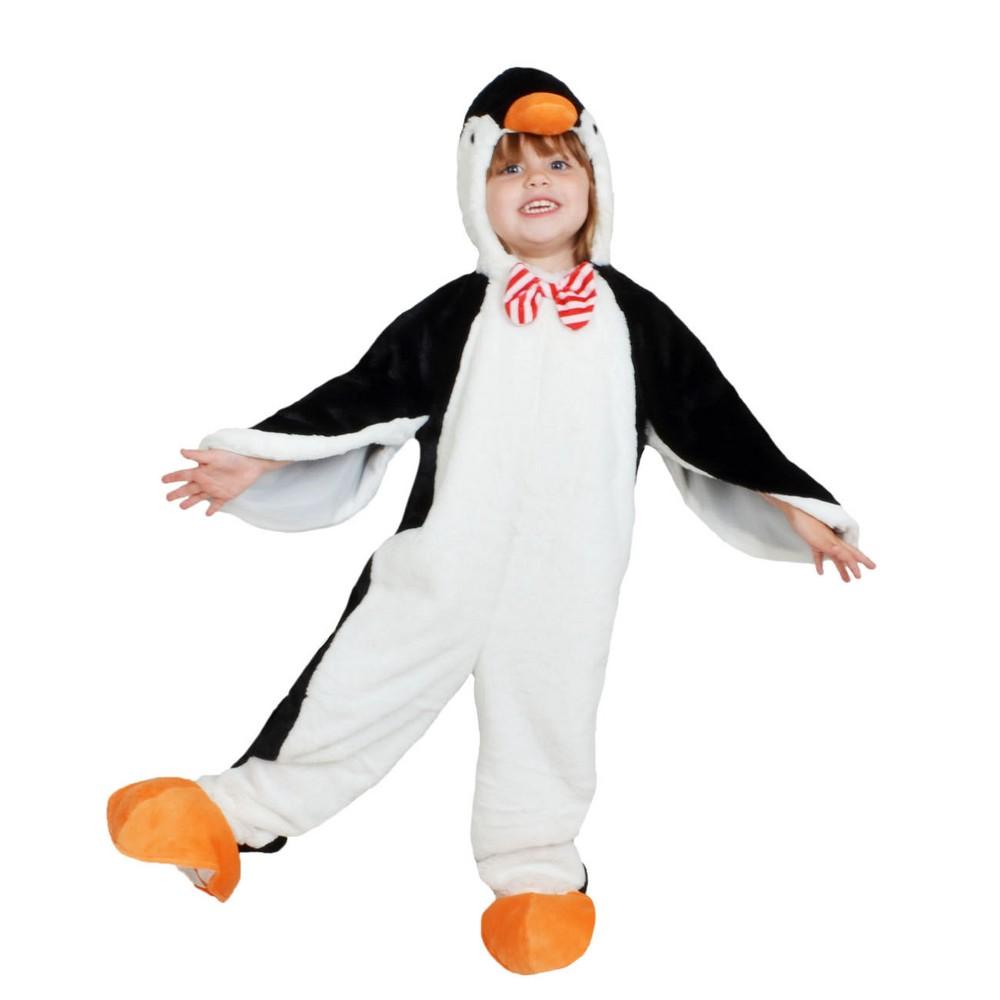 Toddler Plush Penguin Jumpsuit Costume 4-5T - Wondershop, Toddler Unisex, Size: 4T-5T, Black