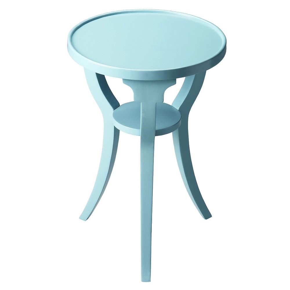 Dalton End Table Sky blue Round- Butler Specialty
