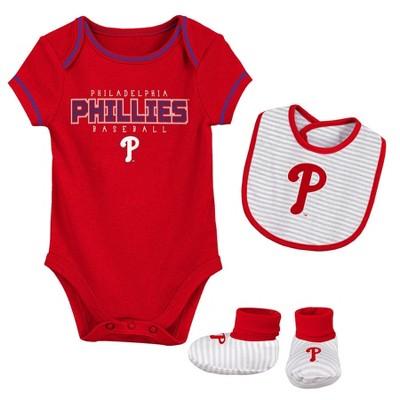 MLB Philadelphia Phillies Baby Boys' Short Sleeve Layette Set