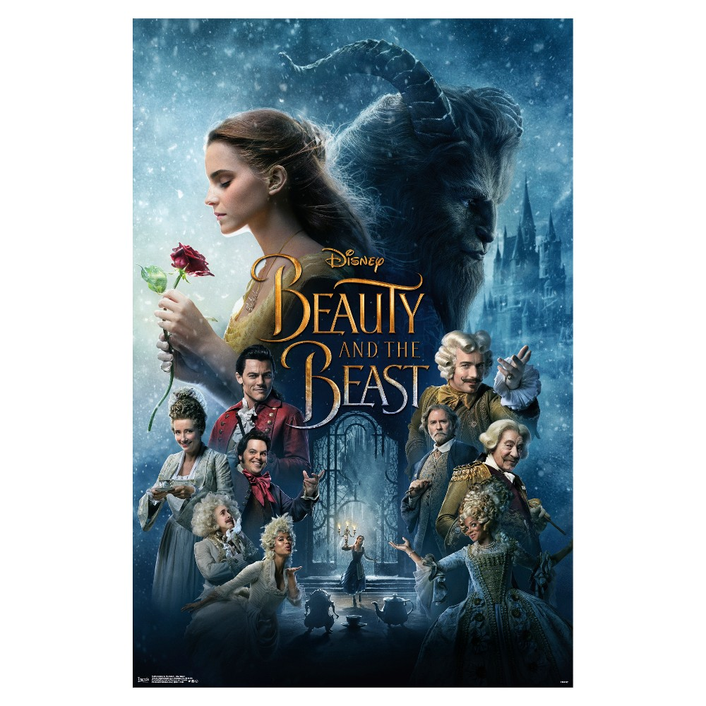 Beauty and the Beast One Sheet Poster 34x22 - Trends International, Multi-Colored