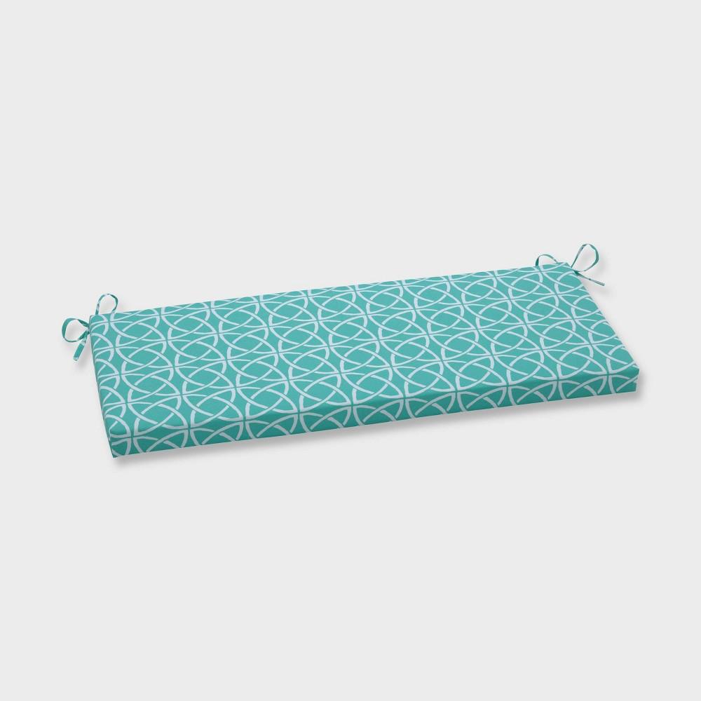 Catamaran Tile Outdoor Bench Cushion Green - Pillow Perfect