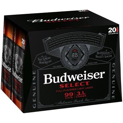 Budweiser Select Beer - 20pk/12 fl oz Bottles