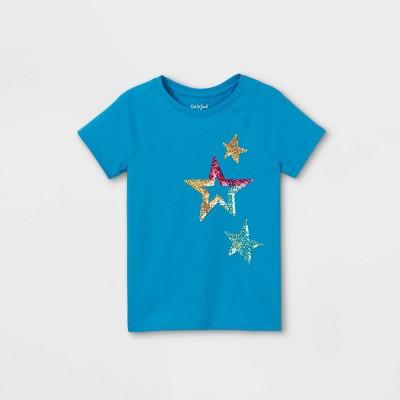 Girls' Flip Sequin Printed Short Sleeve T-Shirt - Cat & Jack™