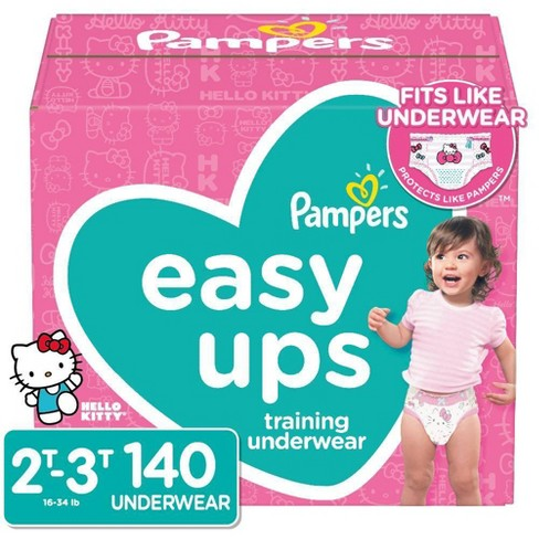 Pampers Easy Ups Girls Training Pants One-Month Supply (Assorted Sizes) - image 1 of 4