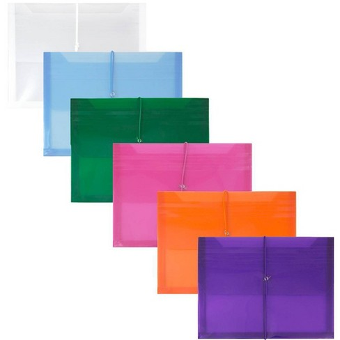 JAM Paper 9 3/4''x13'' 6pk Plastic Envelopes, 2 5/8