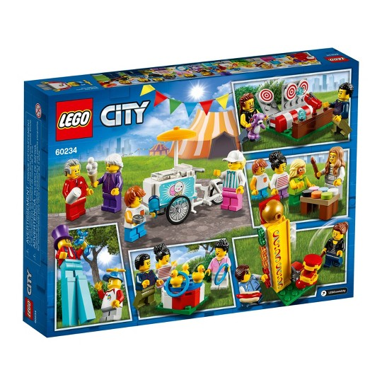 LEGO City People Pack - Fun Fair 60234 Toy Fair Building Set with Ice Cream Cart 183pc image number null