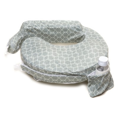 My Brest Friend Deluxe Nursing Pillow - Flower Key Gray
