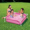 Summer Waves Small Plastic Frame 4ft x 4ft x 12in Kids Toddler Baby Kiddie Swimming Pool, Pink - image 2 of 2