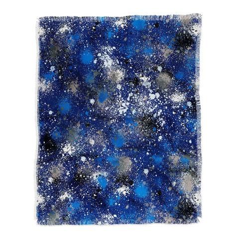 Ninola Design Ink Splatter Blue Night Woven Throw Blanket Blue - Deny Designs - image 1 of 2