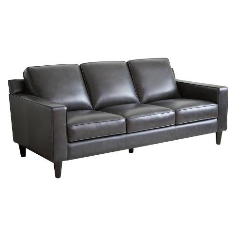 Sensational Olivia Top Grain Leather Sofa Gray Abbyson Living Inzonedesignstudio Interior Chair Design Inzonedesignstudiocom