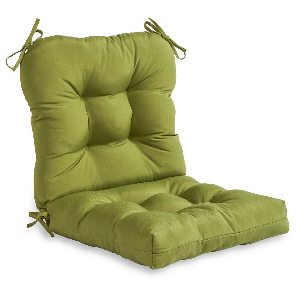 Image of Solid Hunter Outdoor Seat and Back Combo Cushion - Kensington Garden