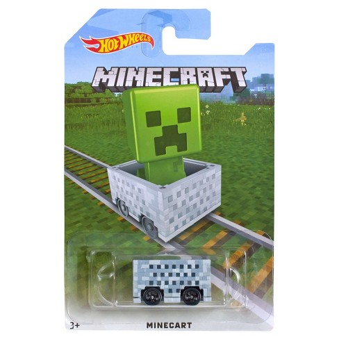 Hot Wheels Minecraft Creeper Mine Cart - image 1 of 1