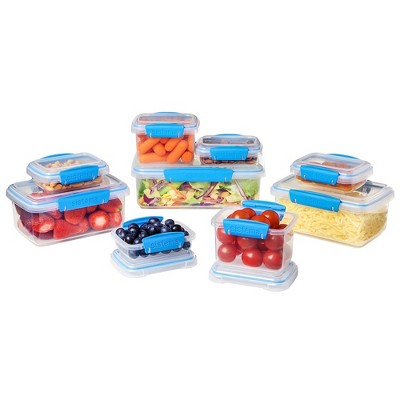 Charmant Sistema 18pc Food Storage Container Set Blue