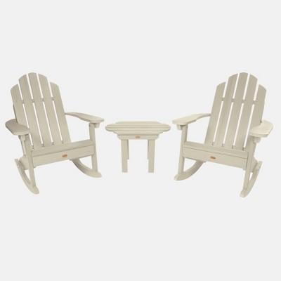 3pc Classic Westport Adirondack Rocking Chair Patio Set - highwood