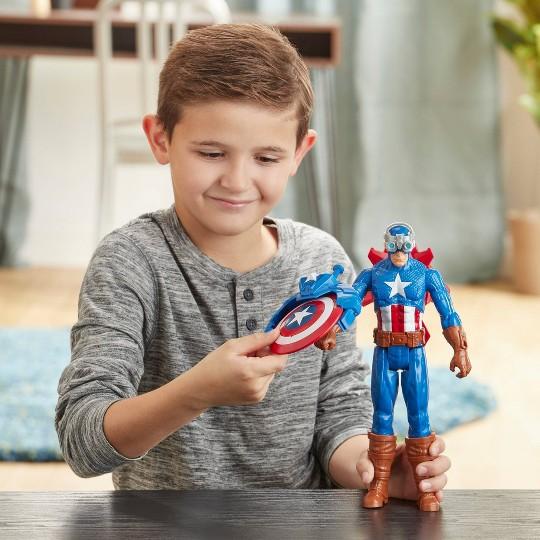 Marvel Avengers Titan Hero Series Blast Gear Captain America image number null