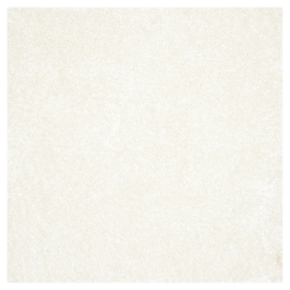 White Solid Tufted Square Area Rug - (5'X5') - Safavieh