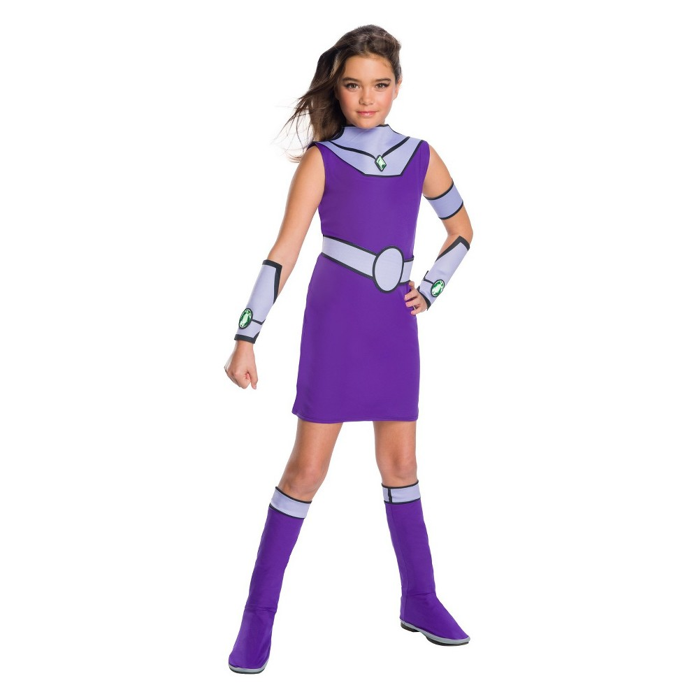 Girls' Teen Titan Go Starfire Halloween Costume M, Multicolored