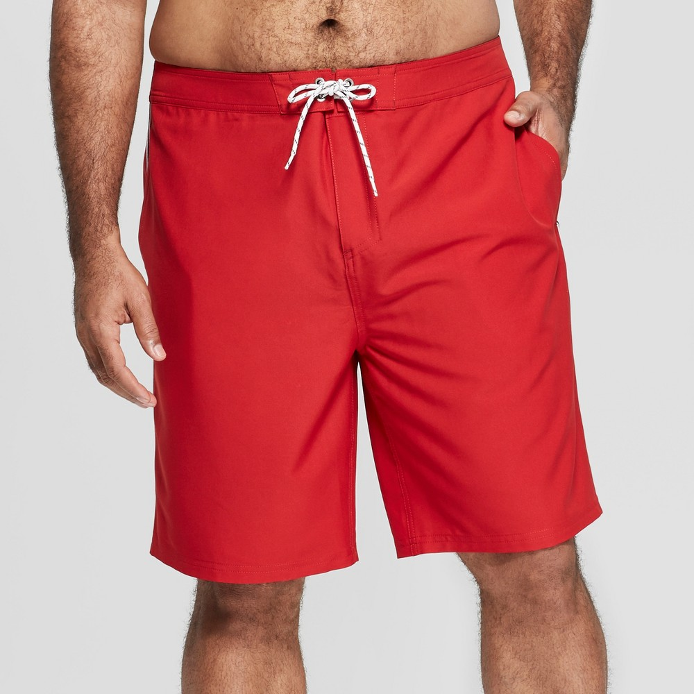 Men's Big & Tall 10 Taped Board Shorts - Goodfellow & Co Red 58