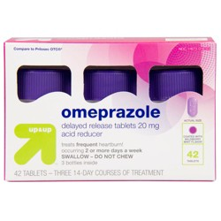 Omeprazole 20mg Acid Reducer Delayed Release Tablets - Wildberry Mint Flavor - 42ct - Up&Up™