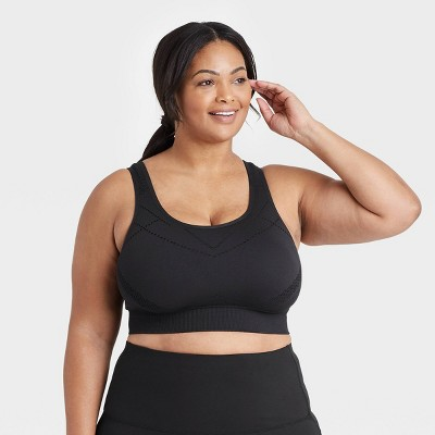 Women's Plus Size Light Support Seamless Longline Bra - All in Motion™