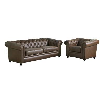 Genial Lincoln Tufted Chesterfield Sofa U0026 Armchair   Abbyson Living