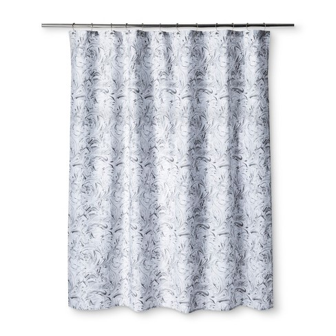 Marble Shower Curtain Pigeon Gray