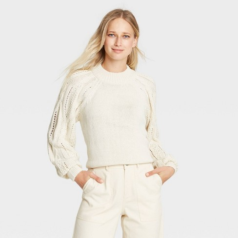 Women's Mock Turtleneck Pullover Sweater - Who What Wear™ - image 1 of 3