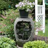 """30"""" Mossy Vase 3-Tier Water Fountain Plant Stand with LED Lights - Sunnydaze Decor - image 3 of 4"""