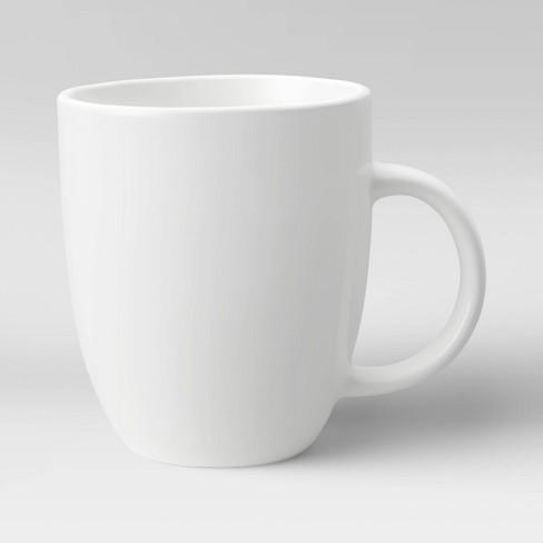 14oz Porcelain Coffee Mug White - Threshold™ - image 1 of 3