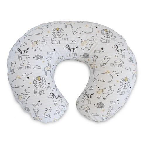 Boppy Original Feeding and Infant Support Pillow - Notebook Black & Gold - image 1 of 4