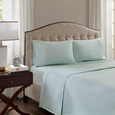 Cotton Blend Pillowcases Set (King)Seafoam 1500 Thread Count