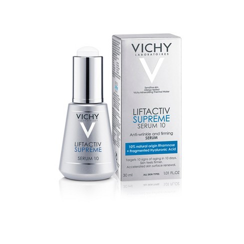 Vichy Liftactiv Anti Aging Face Serum 10 Supreme With Hyaluronic Acid 1 01oz