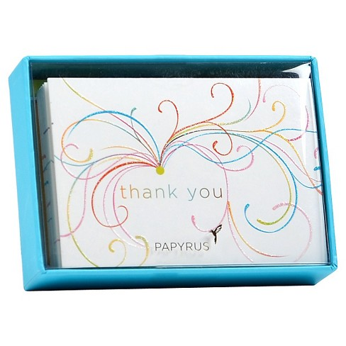 Papyrus Swirl Thank You Cards (14 ct) - image 1 of 1