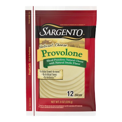 Sargento Natural Provolone Sliced Cheese - 8oz/12 slices