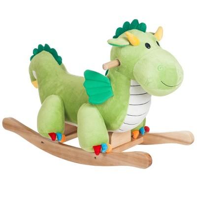 Toy Time Kids' Plush Rocking Dragon Ride-On Toy - Green