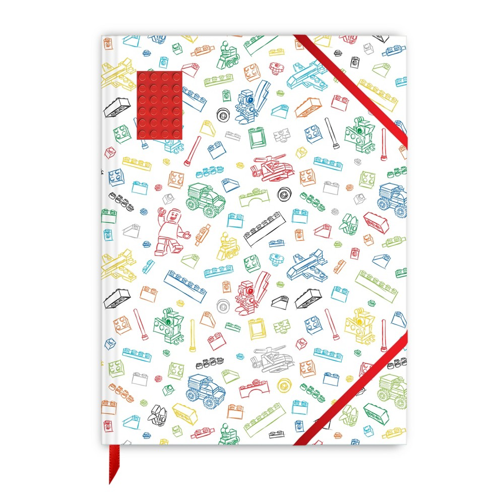 Lego 8.5 x 11.4 Sketchbook - White with Red Brick, Multi-Colored