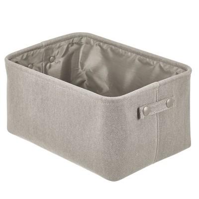 mDesign Fabric Bathroom Storage Bin, Coated Interior