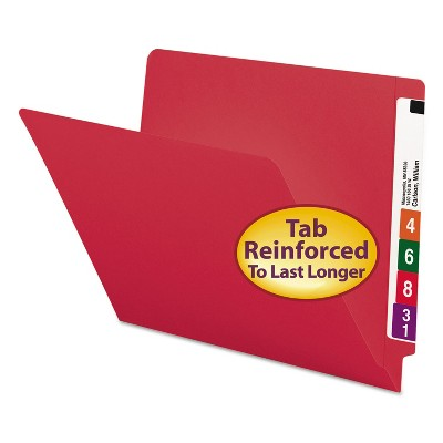 Smead Colored File Folders Straight Cut Reinforced End Tab Letter Red 100/Box 25710