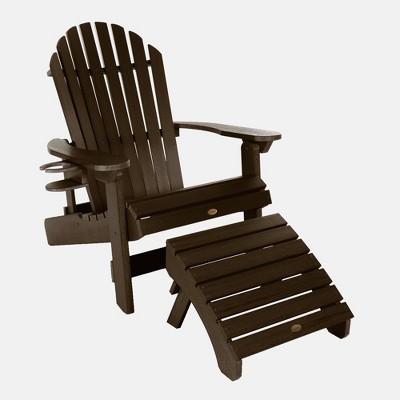 King Hamilton Folding Patio Adirondack Chair & Ottoman - highwood