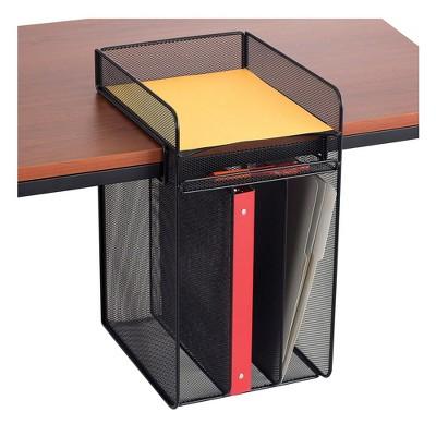 Safco Onyx Horizontal Hanging Storage, Black 3241BL
