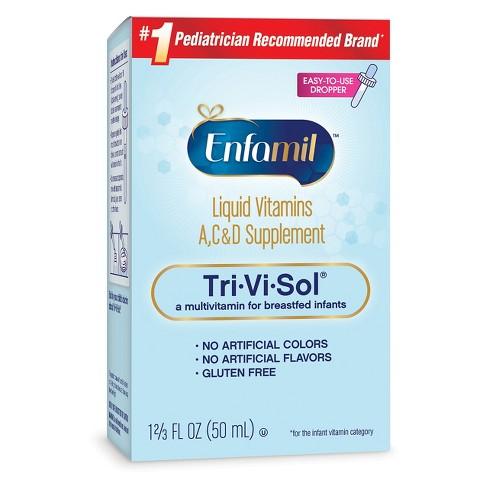 3f738f72d59a Enfamil Tri-Vi-Sol Infant Vitamins A-C-and D Dietary Supplement Drops -  1.69oz   Target